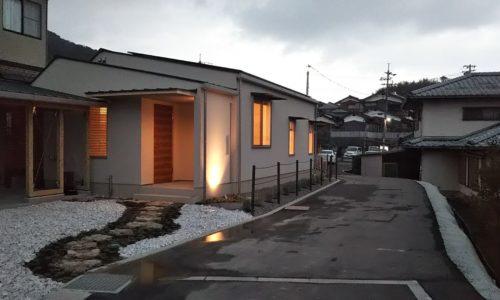 下松市で建築中の平屋の家は、スーパーエコハウス、F様邸完成、そしてお引渡し!